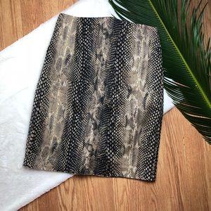 Express Design Studio Snake Print Pencil Skirt